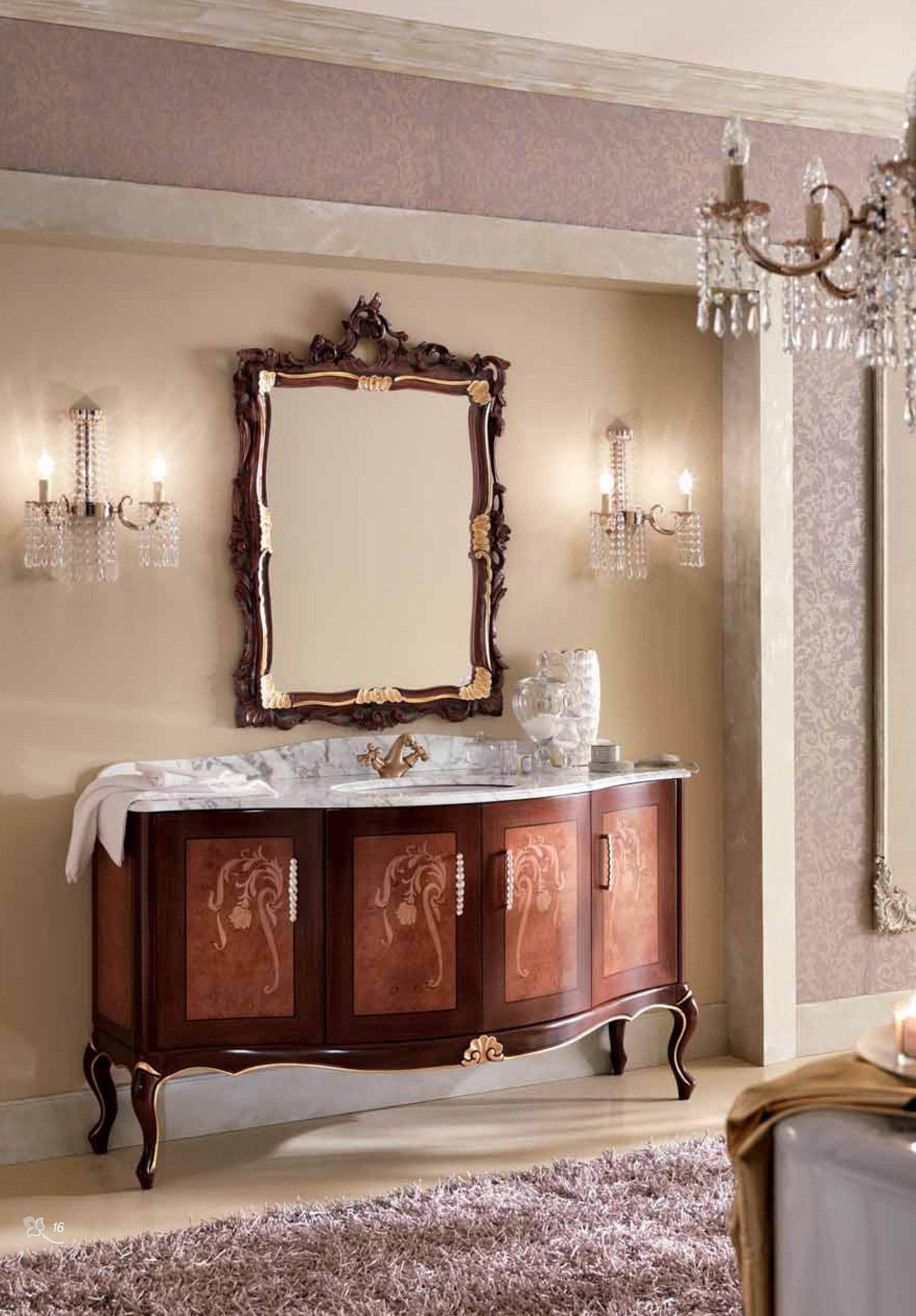 Классическая мебель для ванной комнаты BMT Edwards - парадная классика.