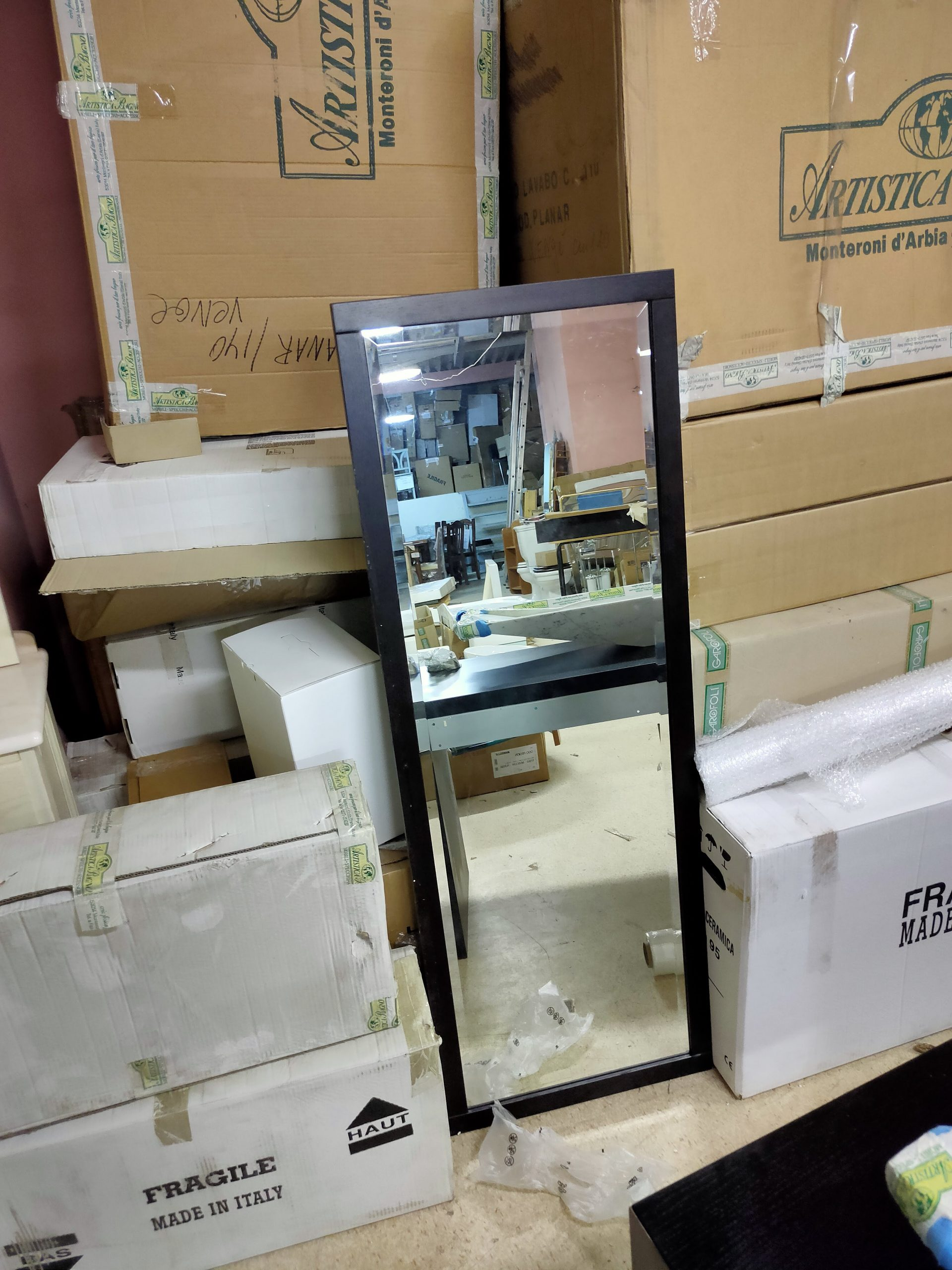 Комплект мебели фабрики VetrArte, модель PLANAR 140 MARMO