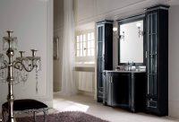 Мебель для ванной комнаты BMT ZAR - черная с серебром.