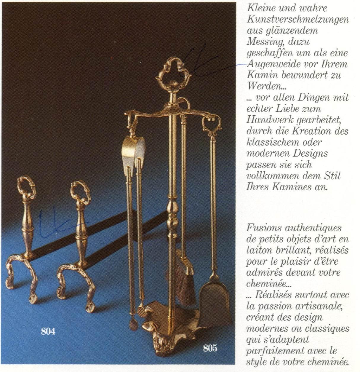 Подставки для дров, латунь + ковка. Модель Palazzetti 804