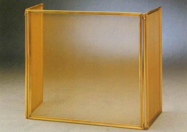 Экран от искр 3 створки, латунь. Модель Palazzetti 806