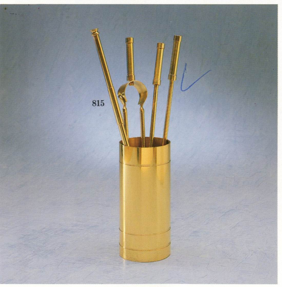 Набор аксессуаров для камина, латунь. Модель Palazzetti 815