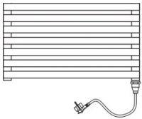Электрический полотенцесушитель Brandoni WQD 050/115 хром с проводом