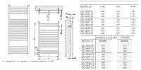 Электрический полотенцесушитель Brandoni WQD 050/115 хром с проводом и термостатом